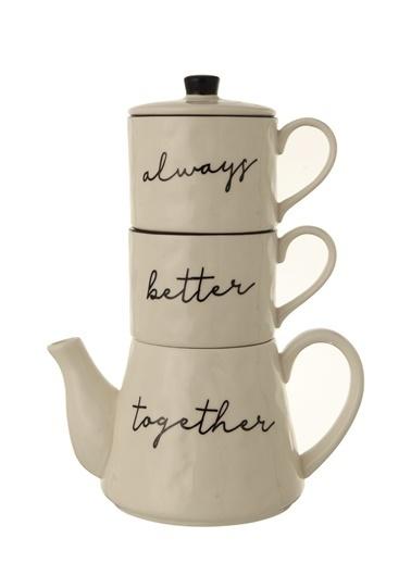 Warm Design Porselen Çaydanlık Renkli